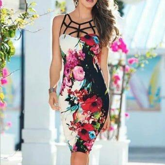 Váy Hoa Cá Tính - VDVH53